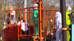 Children activity at the PlayGround Stock Footage
