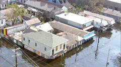 Flood City Water Neighborhood Stock Footage