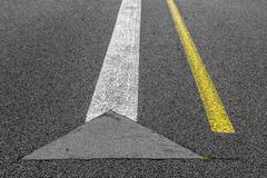road marking on an airstrip - stock photo