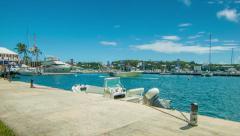 Royal Bermuda Yacht Club in Hamilton Harbour Stock Footage