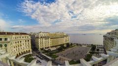 Aristotelous Square Thessaloniki - Timelapse Full HD 1920X1080 Video Stock Footage