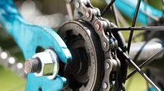 Bicycle gear and chain 3a Stock Footage
