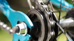 Bicycle gear and chain 3b Stock Footage