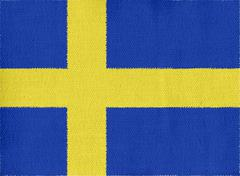 Flag of sweden Stock Illustration