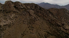 Desert Mountain Fly-By Stock Footage