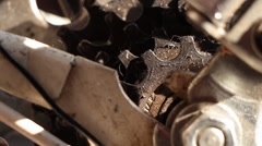 Bicycle gear and chain 6 Stock Footage
