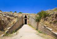 Stock Photo of Treasury in Mycenae town, Greece