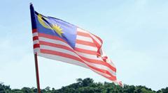Malaysia Flag Stock Footage