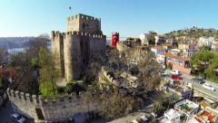Camera moving close to the castle Stock Footage