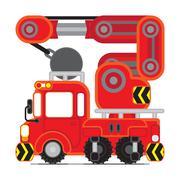 Rescue Car The Knob - stock illustration