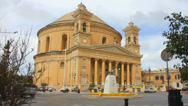 Stock Video Footage of Rotunda of Mosta