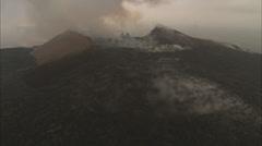 Volcano smoke mountain Stock Footage