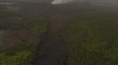 Valley mountain smoke Stock Footage