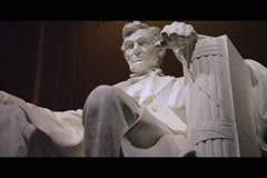 Lincoln Memorial dolly - stock footage