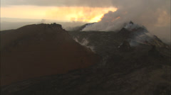 Steamy hot volcano Stock Footage
