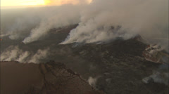 Volcano top smoke Stock Footage