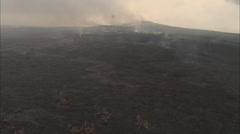 Volcano smoke grey Stock Footage