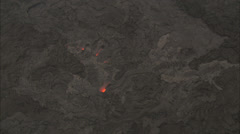 Orange glowing lava Stock Footage