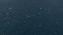 blue choppy ocean - stock footage