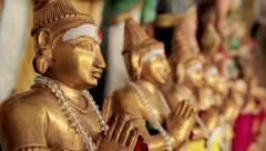 Statue in Sri Mahamariamman Temple in Kuala Lumpur Stock Footage