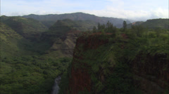 Mountains green stream canyon Stock Footage