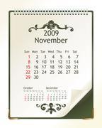 Stock Illustration of november 2009