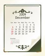 december 2009 - stock illustration
