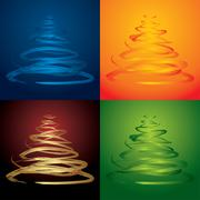 vector christmas trees - see more in my portfolio - stock illustration