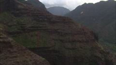 Mountains ridges trees canyon Stock Footage