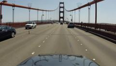 Golden Gate Bridge Driving Point Sports Car of View San Francisco Stock Footage