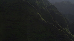 Green mountain ridges canyon Stock Footage