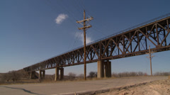 Western Kansas Bridge Stock Footage