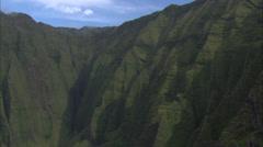 Green mountain ridges Stock Footage