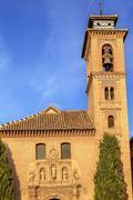 church iglesia of santa anna rio darro granada andalusia spain - stock photo