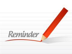Reminder message illustration design Stock Illustration