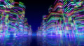 Neon Light City R1Ab2 4k Footage