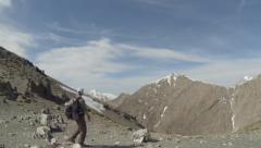 Backpacker In Atlas Mountains Morocco 4 - stock footage