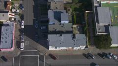 House Residential Neighborhood Cars Stock Footage