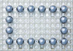 Framework from steel spheres Stock Photos
