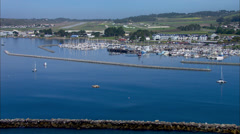 Pillar Point Half Moon Harbor Stock Footage