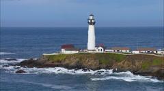 Lighthouse Ocean Coast Beach Stock Footage