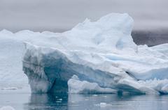 blue icebergs narsarsuaq - stock photo