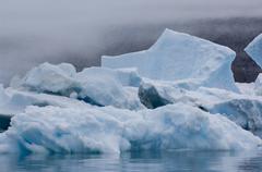 Stock Photo of blue icebergs narsarsuaq
