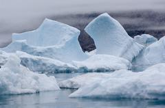 Blue icebergs narsarsuaq Stock Photos