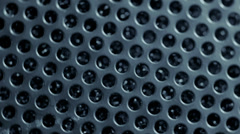 Dark metal lattice rotates. Stock Footage