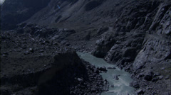 River Rocky Canyon Road Rapids - stock footage