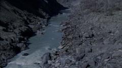 River Rocky Rural Rapids Roads - stock footage