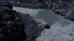 River Rocky White Water Rapids Stock Footage