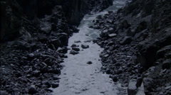 River Rocky White Water Rapids - stock footage