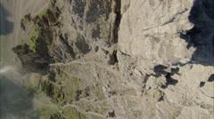 Mountain top edge Stock Footage